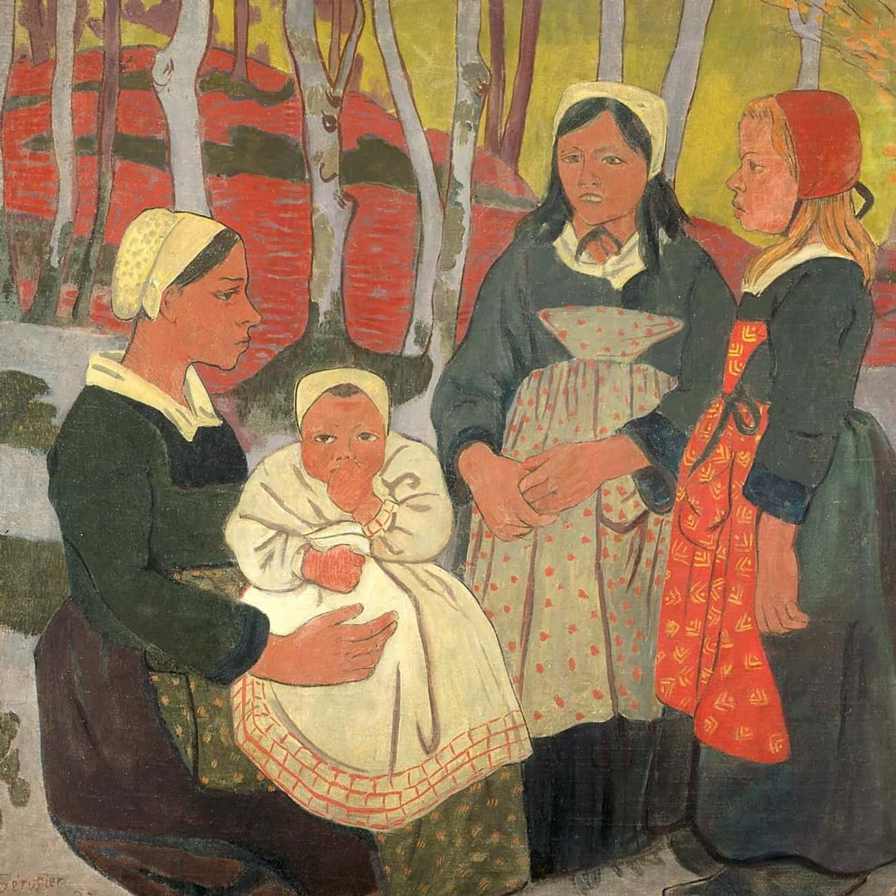 Bretons in the Forest of Huelg is listed (or ranked) 4 on the list Famous Post-Impressionism Paintings