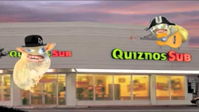Quiznos is listed (or ranked) 4 on the list The Creepiest Company Mascots