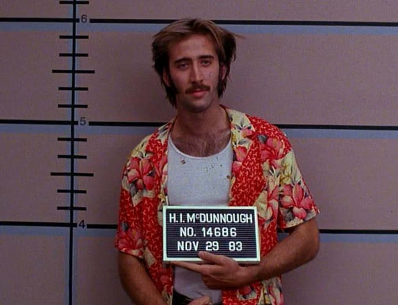 The 'Raising Arizona' is listed (or ranked) 4 on the list All Of Nicolas Cage's Hairstyles, Ranked