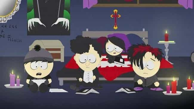 Raisins is listed (or ranked) 2 on the list The Best 'South Park' Episodes Featuring The Goth Kids