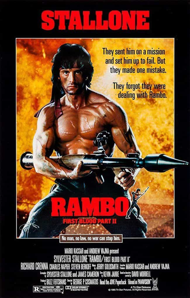 Rambo: First Blood Part II is listed (or ranked) 3 on the list The Best Movies In The 'Rambo' Franchise