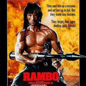 Rambo: First Blood Part II is listed (or ranked) 7 on the list The Best Sylvester Stallone Movies