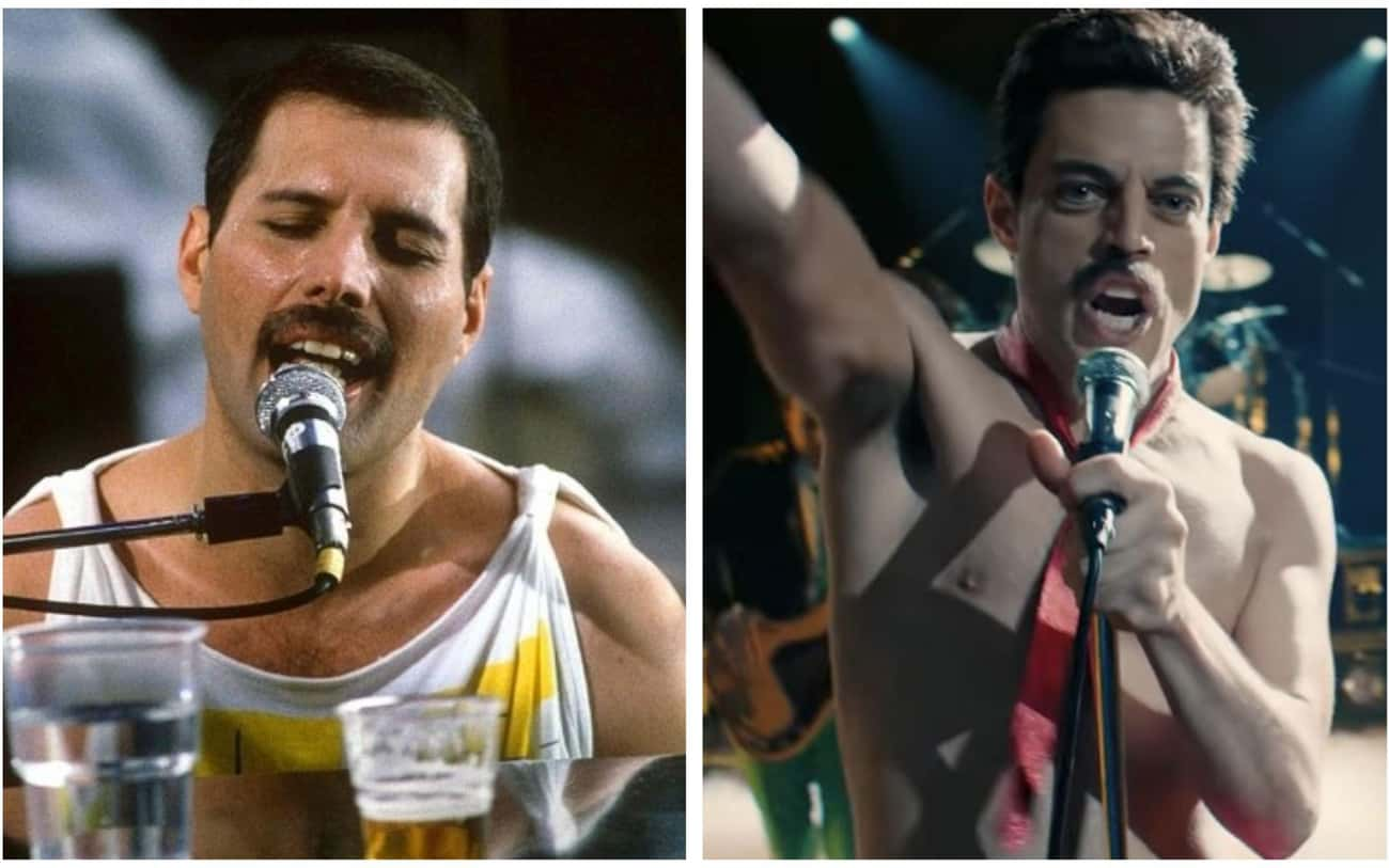 Freddie Mercury - Rami Malek is listed (or ranked) 3 on the list 'Bohemian Rhapsody' Actors Vs. The Real People They Play