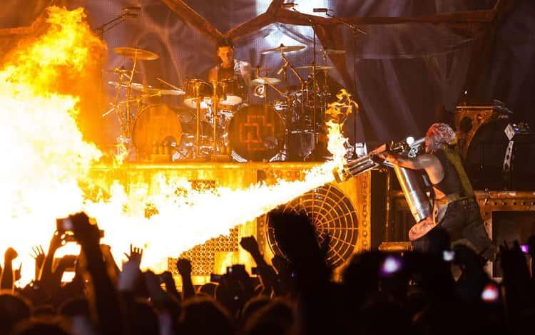 Rammstein Nearly Sets Germany Ablaze