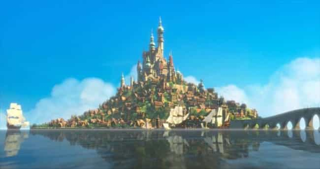 Tangled is listed (or ranked) 2 on the list The Best Castles in Disney Animated Films