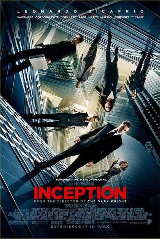 Inception is listed (or ranked) 3 on the list The Best Fantasy Movie Posters