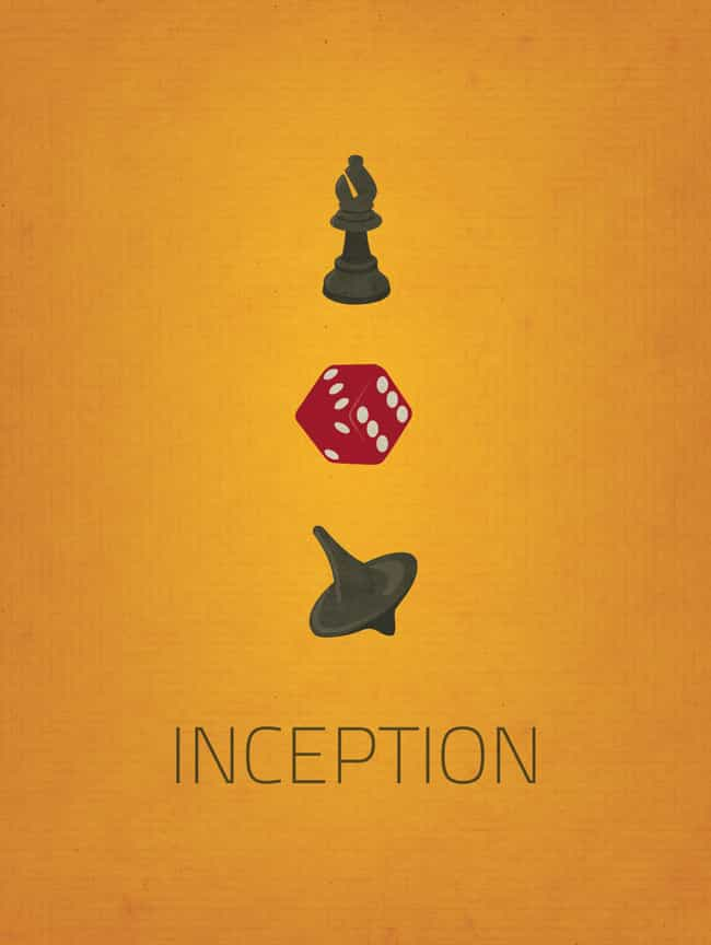 Inception is listed (or ranked) 4 on the list Minimalist Movie Posters For True Film Nerds