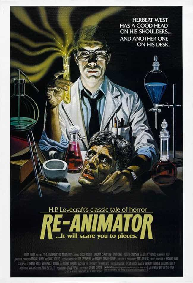 Re-Animator is listed (or ranked) 3 on the list The Most Pun-Tastic Horror Movie Taglines
