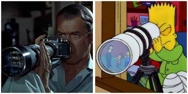 Rear Window is listed (or ranked) 1 on the list 'Simpsons' Movie Parodies You Probably Missed As A Kid, Ranked