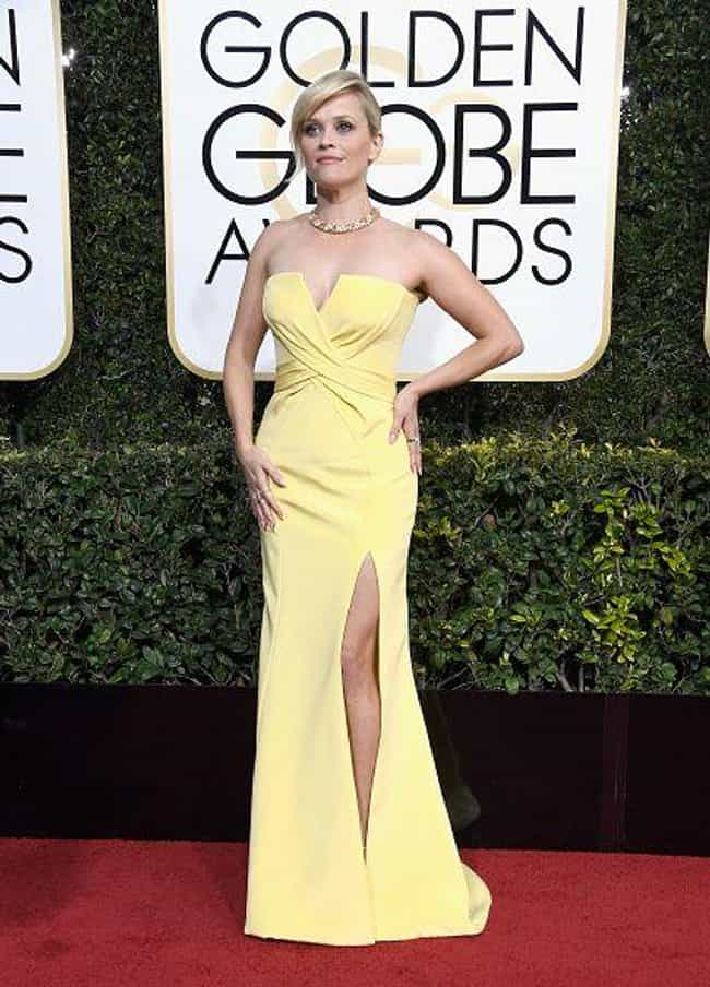 Reese Witherspoon is listed (or ranked) 3 on the list Hottest Dresses on the Red Carpet at the 2017 Golden Globes