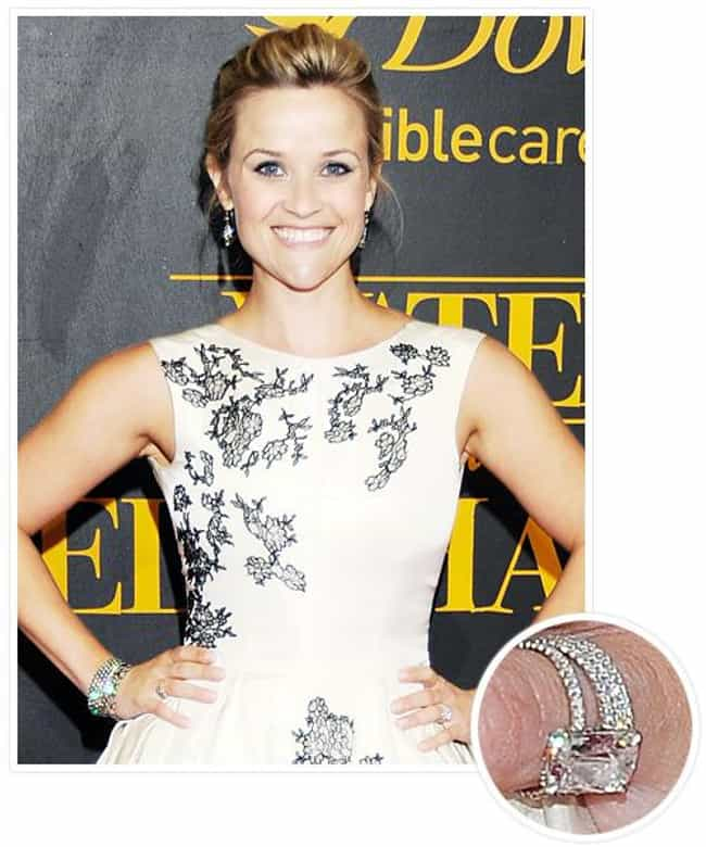 Reese Witherspoon is listed (or ranked) 6 on the list The Most Fabulous Celebrity Engagement Rings