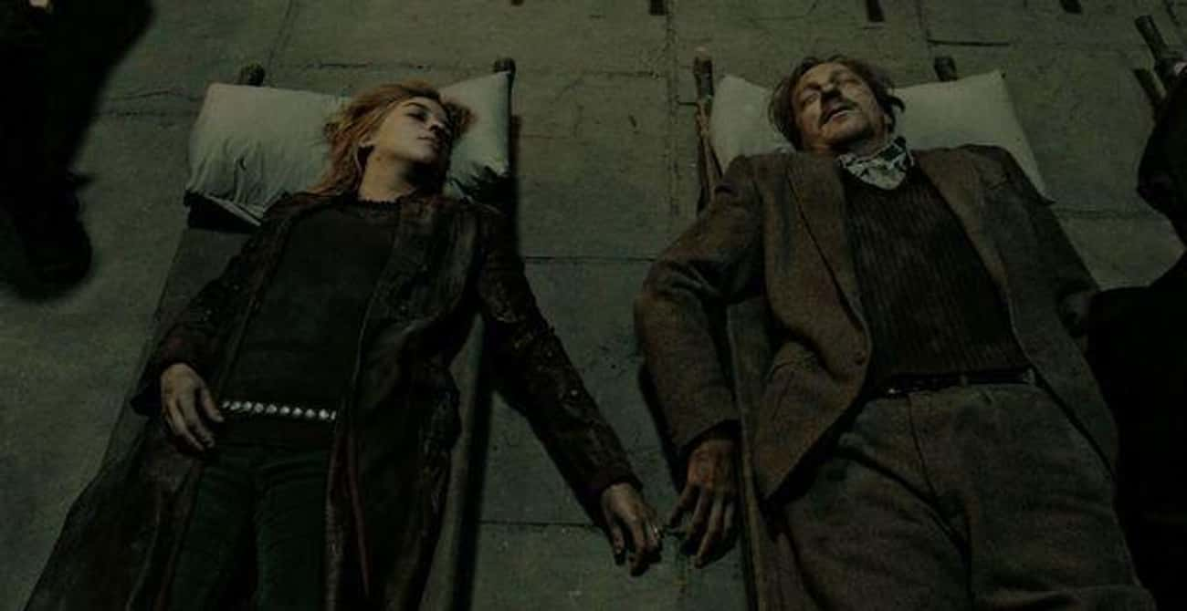Remus Lupin - Slain By Death E is listed (or ranked) 3 on the list The Most Brutal Deaths in Harry Potter