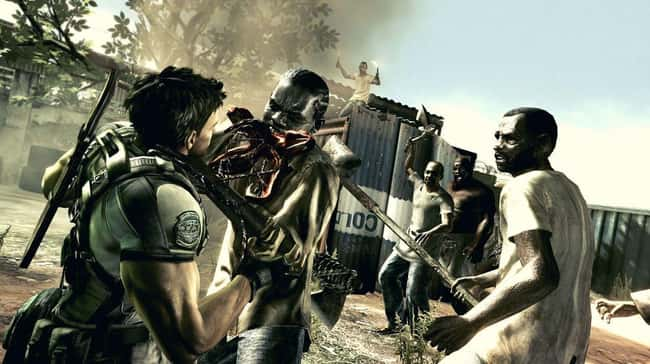 Resident Evil 5 is listed (or ranked) 14 on the list Most Controversial Video Games That Have Ever Been Released