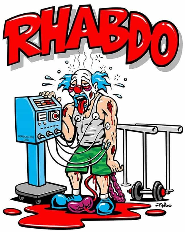 Rhabdomyolysis is listed (or ranked) 3 on the list Terrifying CrossFit Horror Stories