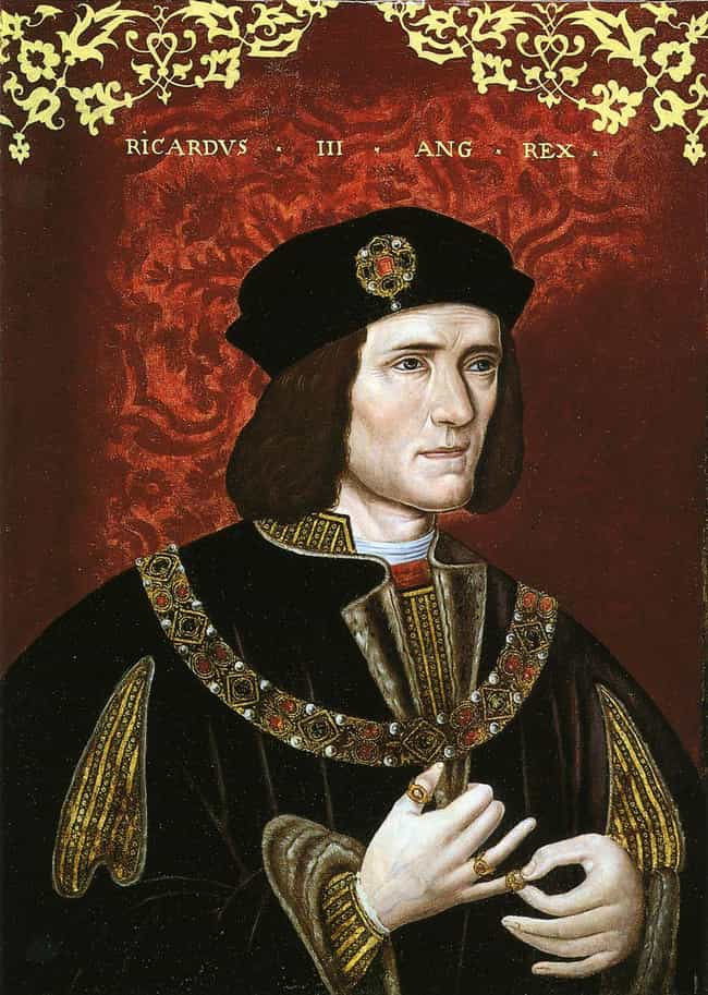 Richard III of England ... is listed (or ranked) 1 on the list 16 Famous Bodies From History Found In Inconspicuous Places