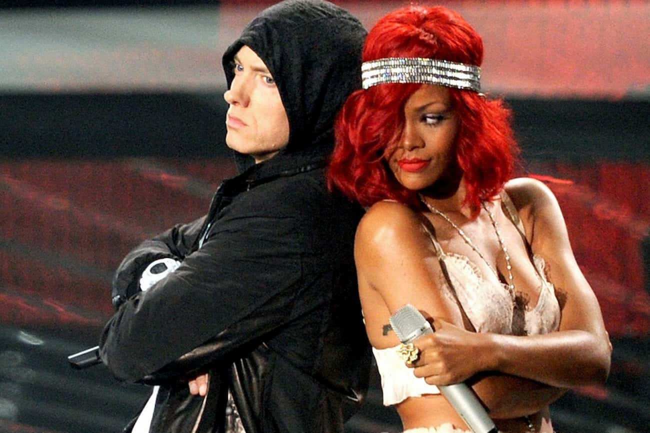 Rihanna is listed (or ranked) 2 on the list Famous Friends of Eminem