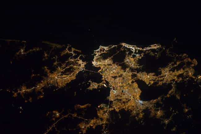 Rio de Janeiro is listed (or ranked) 3 on the list Cool Aerial Photos of Cities at Night