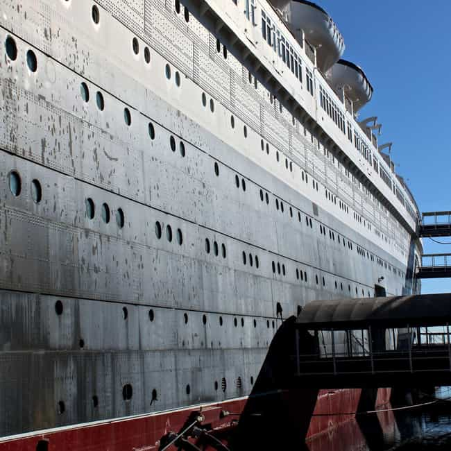 RMS Queen Mary is listed (or ranked) 6 on the list 17 Hollywood Ghost Stories and Urban Legends