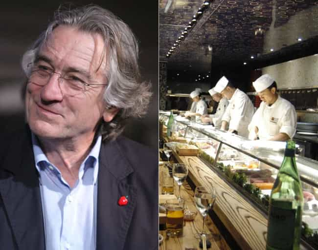 Robert De Niro is listed (or ranked) 3 on the list 40 Celebrities Who Own Restaurants