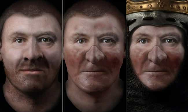 Robert the Bruce is listed (or ranked) 3 on the list Groundbreaking CGI Programing Shows What Historical Figures Actually Looked Like