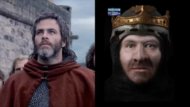 Robert the Bruce is listed (or ranked) 3 on the list Thanks To 3D CGI Recreations, We Can See How Actors Compare To The Historical Figures They Play