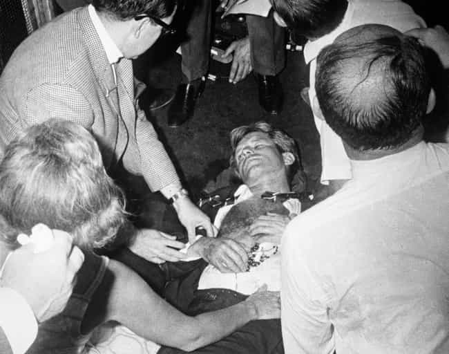 Robert Kennedy is listed (or ranked) 2 on the list Photos Taken Moments After History's Most Infamous Assassinations