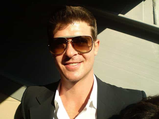 Robin Thicke is listed (or ranked) 4 on the list 29 Celebrities Whose Houses Have Caught on Fire