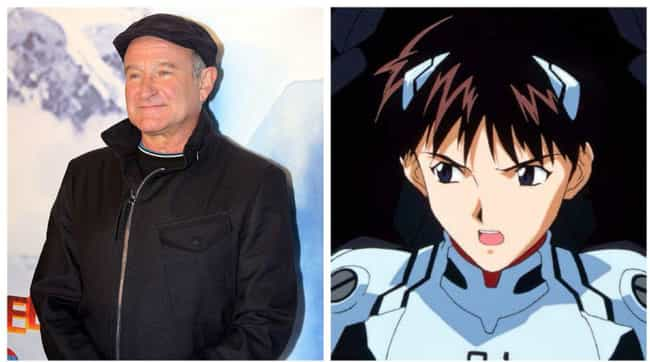 Robin Williams is listed (or ranked) 3 on the list 17 Celebrities Who Are Surprisingly Into Anime