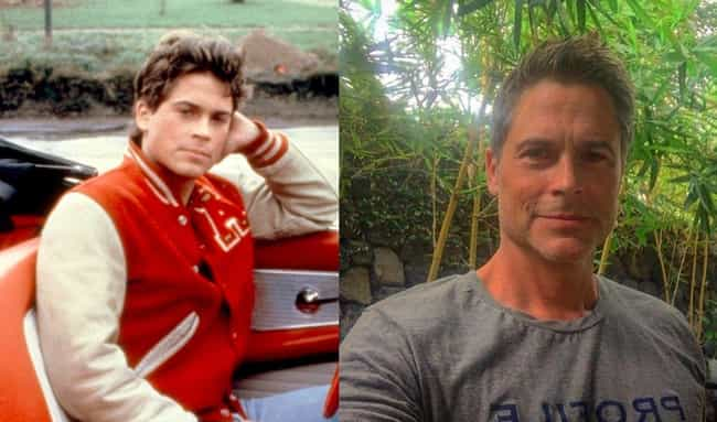 Rob Lowe is listed (or ranked) 2 on the list Teen Star Hunks From Your Childhood Who Have Gray Hair Now