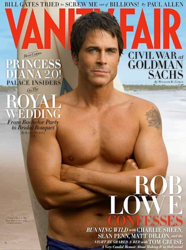 Rob Lowe is listed (or ranked) 4 on the list The Best Vanity Fair Covers