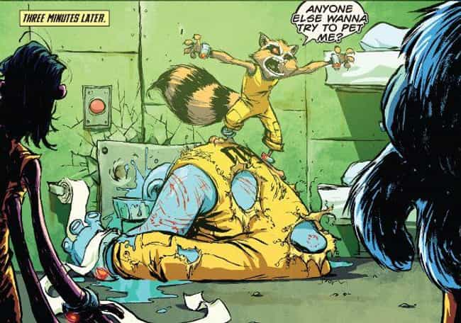 Rocket Raccoon is listed (or ranked) 4 on the list The 13 Most Harrowing Superhero Origin Stories