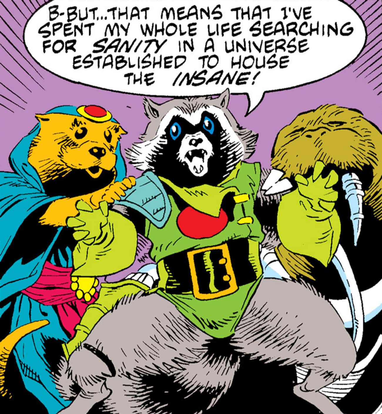 Rocket Raccoon is listed (or ranked) 4 on the list Marvel Superheroes With The Most Harrowing Origin Stories