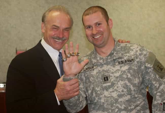 Rocky Bleier is listed (or ranked) 4 on the list Athletes Who Served in the Military