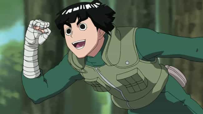Rock Lee is listed (or ranked) 2 on the list 15 Super Tough Anime Characters Who Aren't Afraid of a Fight