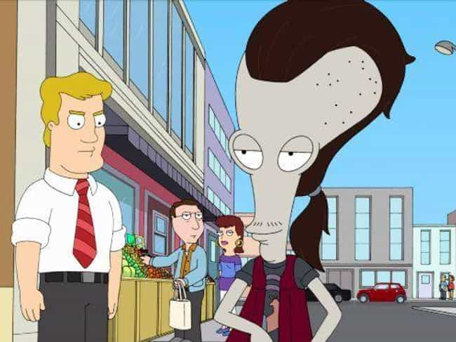 Roger is listed (or ranked) 4 on the list American Dad! Is A Way Better Show Than Family Guy, And Here's Why