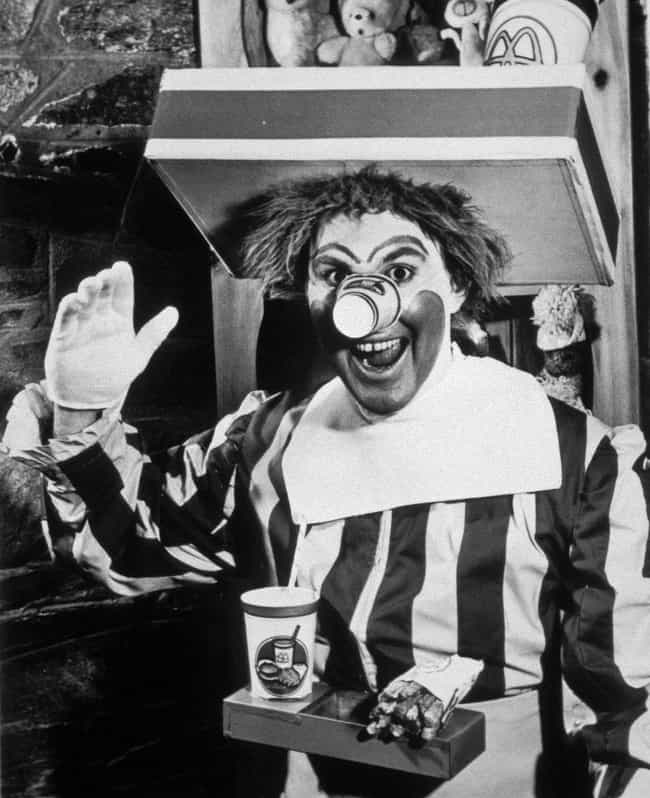 Ronald McDonald is listed (or ranked) 3 on the list The Creepiest Company Mascots