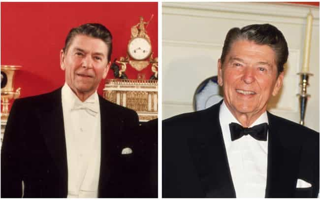 Ronald Reagan is listed (or ranked) 3 on the list How 14 Presidents Looked At The Start And The End Of Their Presidencies