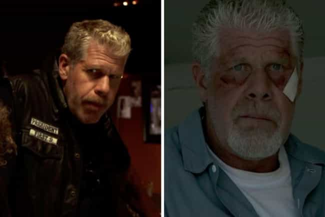 Ron Perlman is listed (or ranked) 3 on the list How the Cast of Sons of Anarchy Aged from the First to Last Season