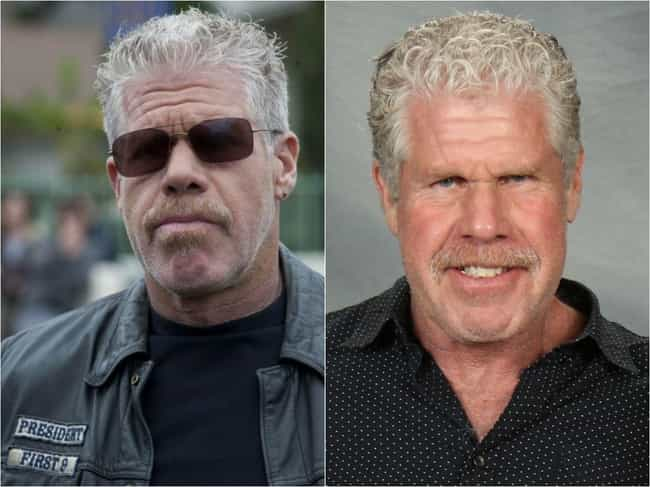 Ron Perlman is listed (or ranked) 3 on the list The 'Sons Of Anarchy' Cast Out Of Costume