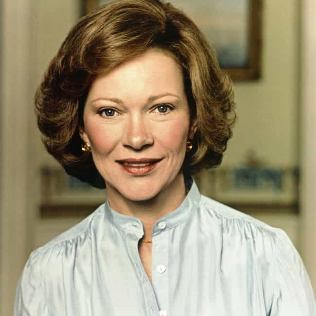 Rosalynn Carter is listed (or ranked) 3 on the list Larry Flynt's Ranking of the Hottest US First Ladies