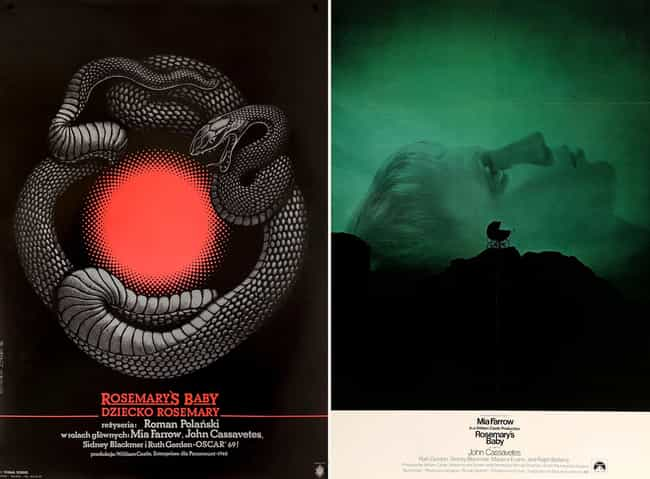 Rosemary's Baby is listed (or ranked) 4 on the list Wonderfully Weird Polish Horror Movie Posters Vs. Their American Counterparts