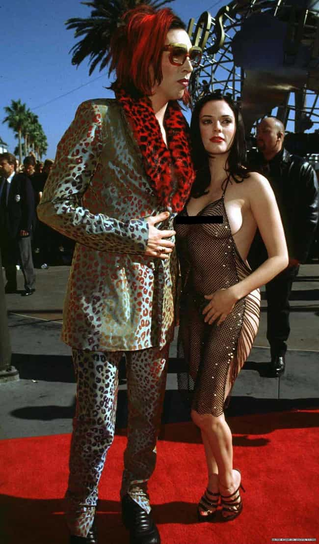 Rose McGowan is listed (or ranked) 2 on the list The Most Outrageous Outfits Ever Worn to the MTV VMAs