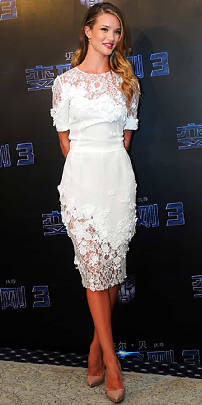 Rosie Huntington-Whiteley is listed (or ranked) 4 on the list Celebrities in Dolce & Gabbana Dresses
