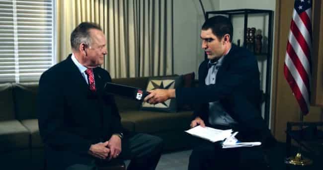 Roy Moore is listed (or ranked) 3 on the list The Most Shocking Guest Appearances On Sacha Baron Cohen's 'Who Is America?'