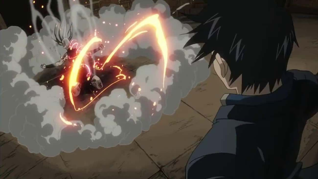 Roy Mustang Shows No Mercy In  is listed (or ranked) 2 on the list 20 Epic Anime Entrances That Gave Us Chills