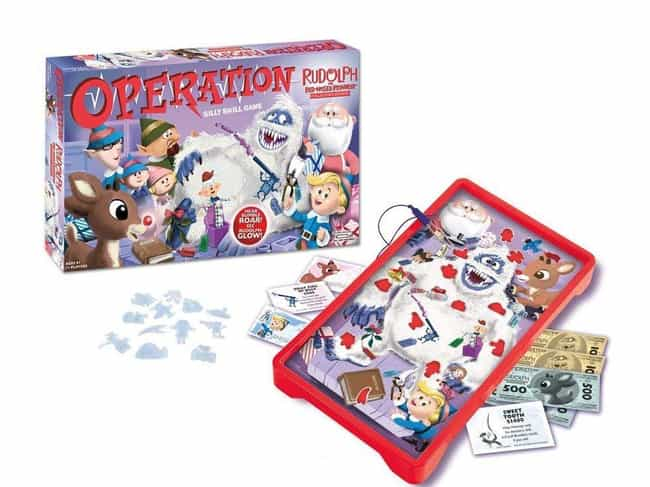 Rudolph the Red-Nosed Re... is listed (or ranked) 3 on the list The Best Editions Of The Operation Board Game