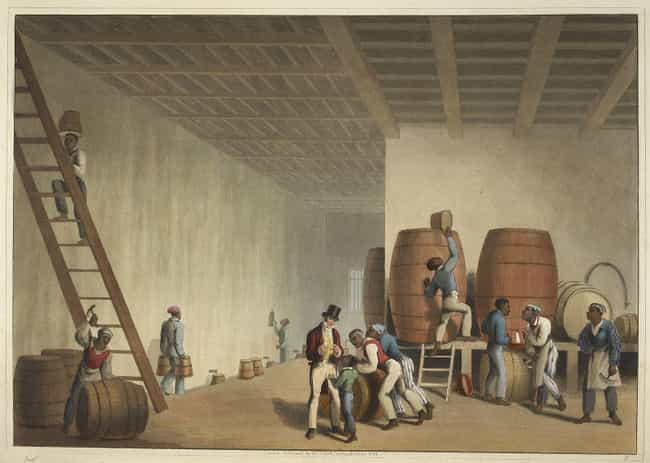 Rum is listed (or ranked) 3 on the list What Kind Of Booze Were Americans Getting Drunk On Through History?