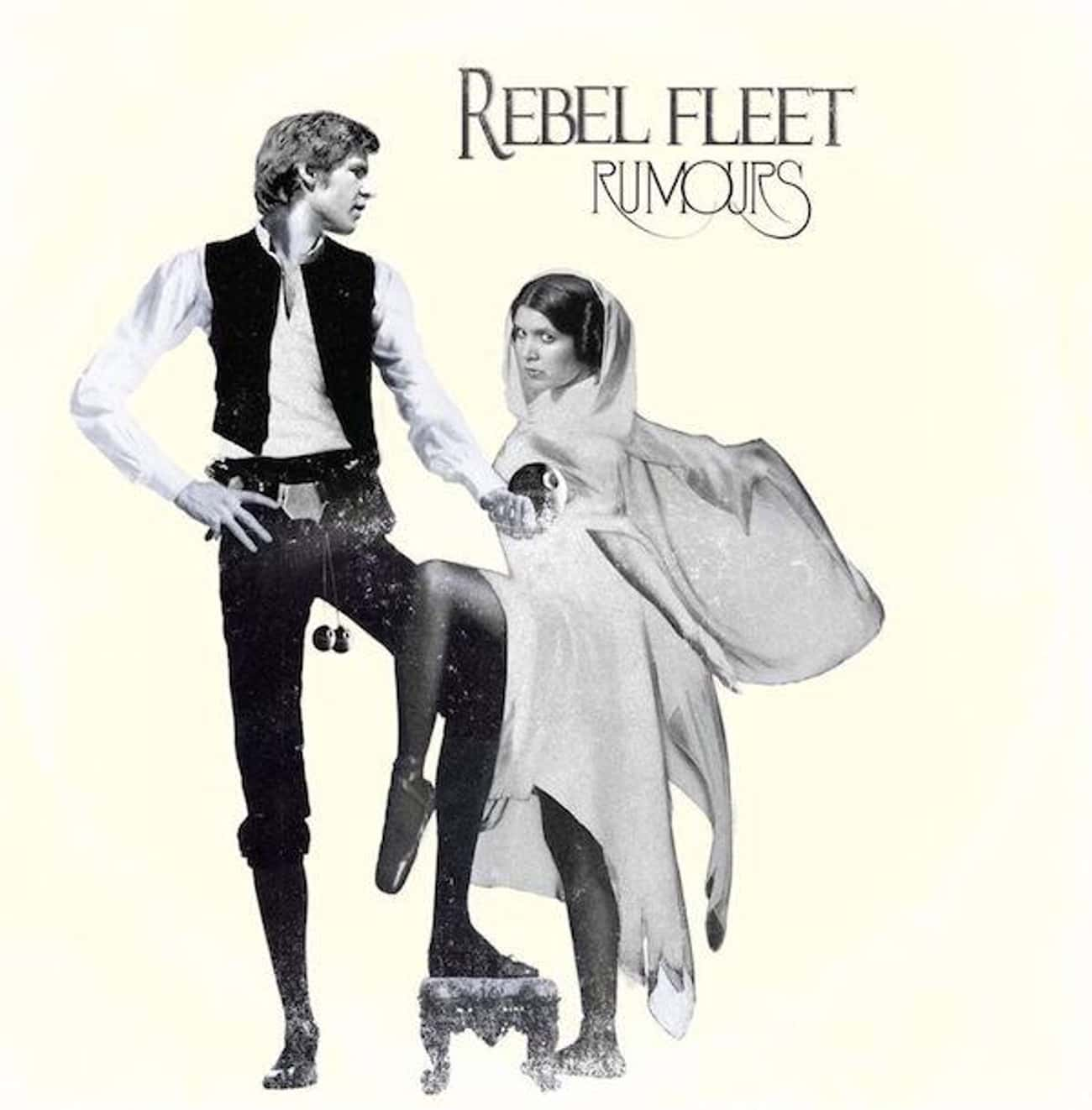 Fleetwood Mac - Rumours is listed (or ranked) 3 on the list Iconic Album Covers Reimagined with Star Wars Characters