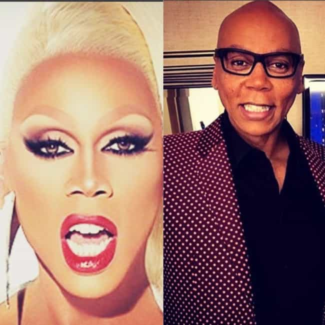 RuPaul is listed (or ranked) 1 on the list RuPaul's Drag Race Stars With And Without Their Makeup