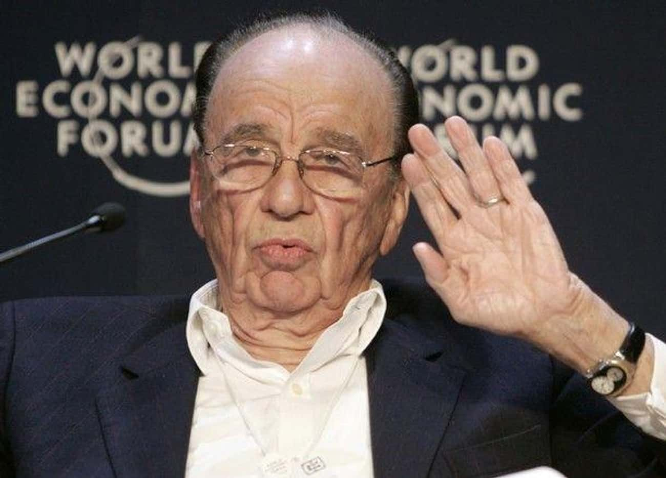 Rupert Murdoch is listed (or ranked) 3 on the list Wealthy People Who Are Basically Supervillains